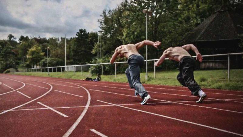 Zweibeiner sprinten